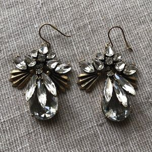 J.Crew Rhinestone earrings